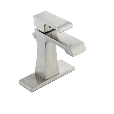Adelyn 4 in. Centerset 1-Handle High-Arc Bathroom Faucet in Brushed Nickel