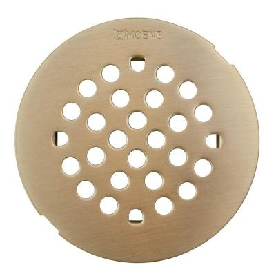 4-1/4 in. Tub and Shower Drain Cover for 3 in. Opening in Brushed Nickel