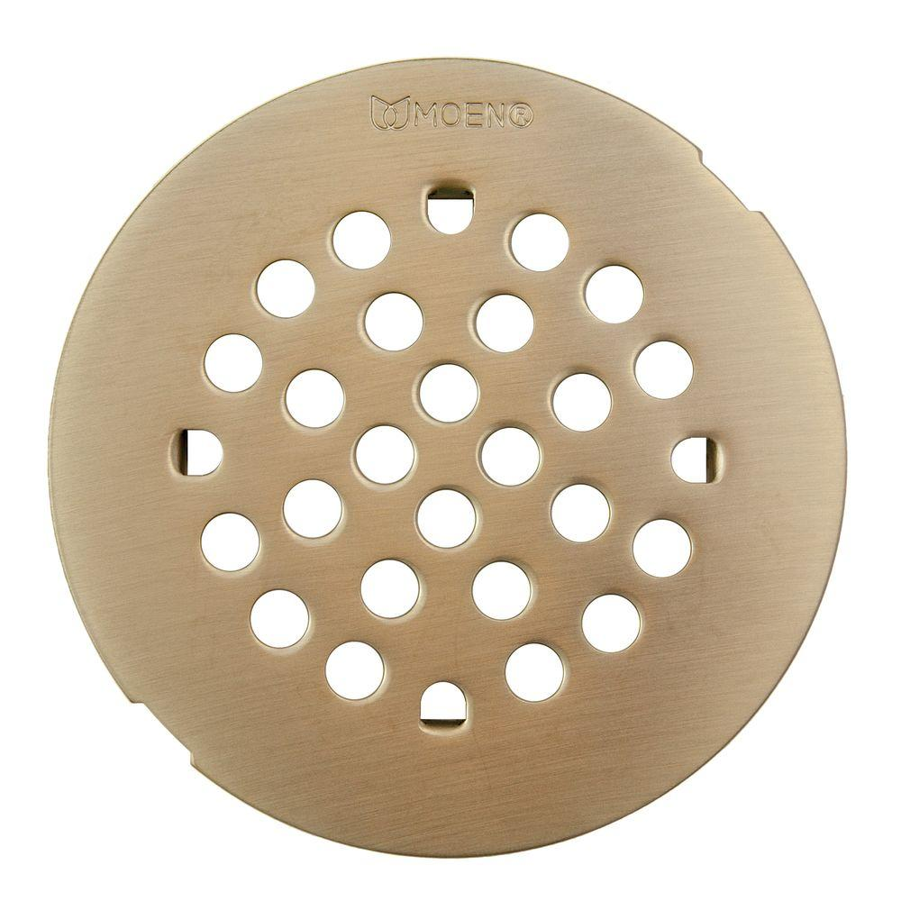 4 1 4 in tub and shower drain cover for 3 in opening in brushed rh homedepot com Trench Drain Shower Floor Shower Drains Types
