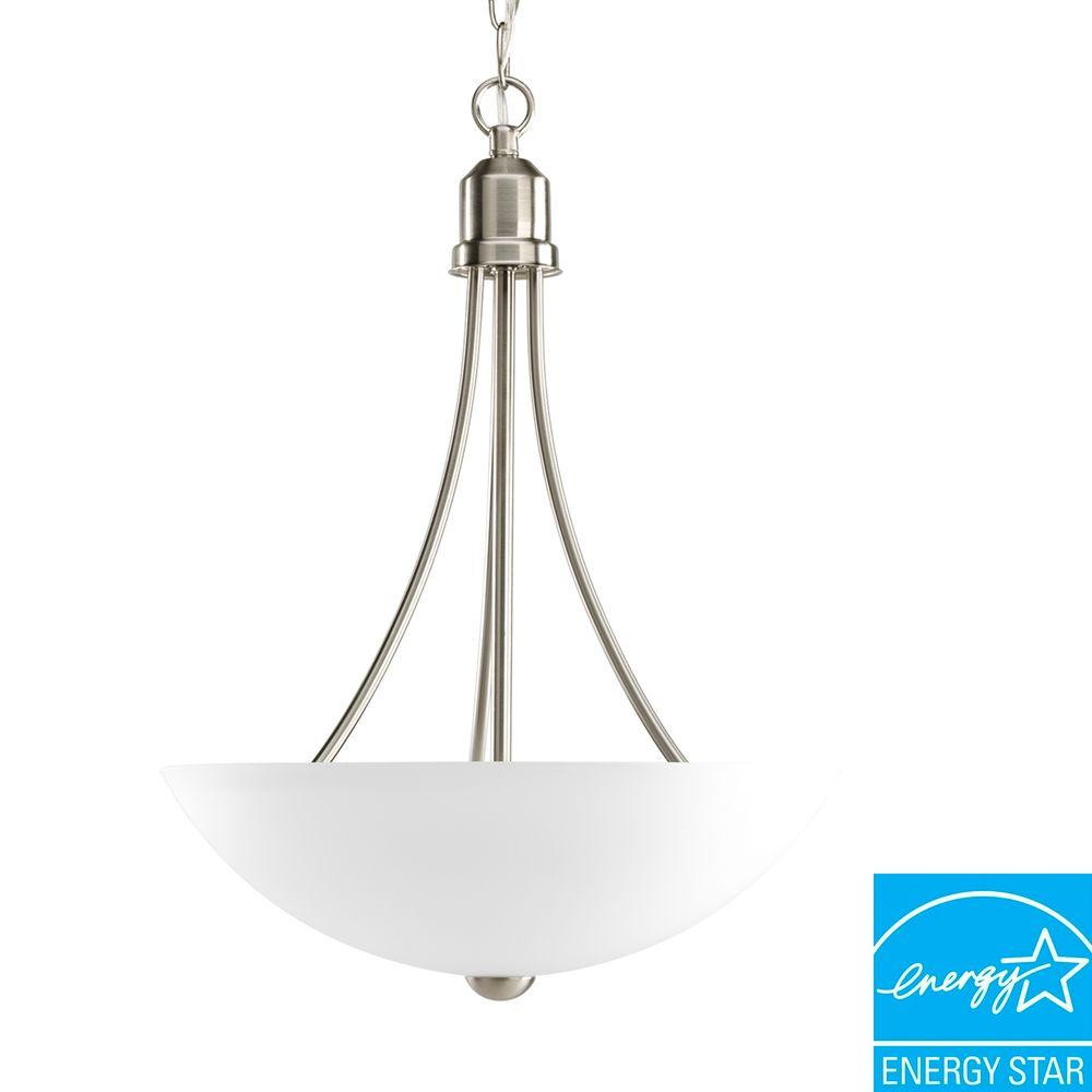 Gather Collection 2-Light Brushed Nickel Foyer Pendant