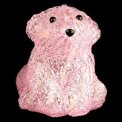 6 in. Decorative Pink Baby Bear Sitting LED Light
