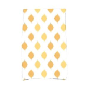 16 inch x 25 inch Yellow Ikat Dot Stripes Holiday Geometric Print Kitchen Towel by
