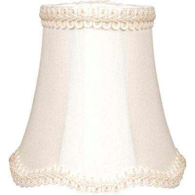 Stretch Bell Scallop Eggshell Chandelier Shade
