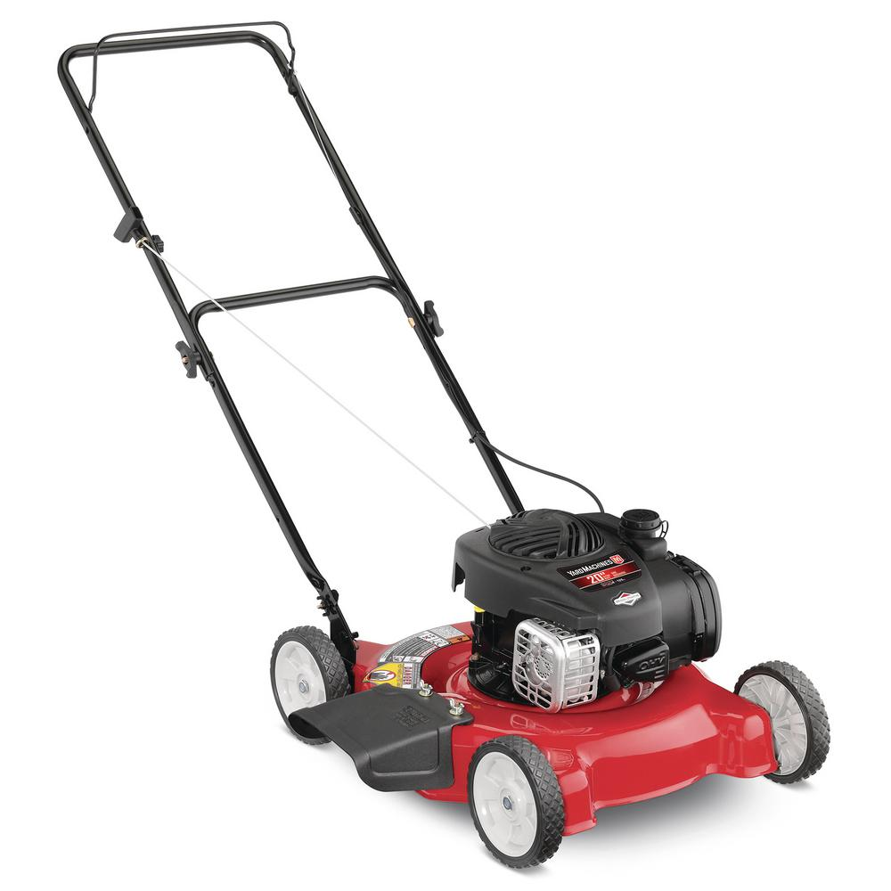 Yard Machines 20 in  125 cc OHV Briggs and Stratton Gas Walk Behind Push  Mower