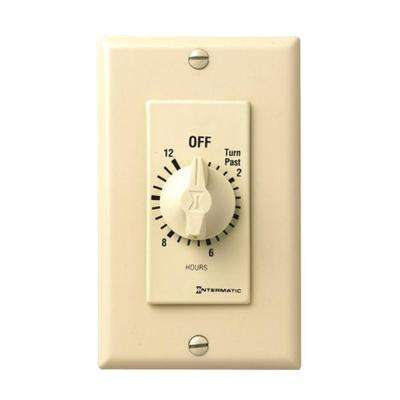 FD Series 1,800-Watt 15 Amp 12-Hour Indoor In-Wall Spring Wound Countdown Timer, Ivory