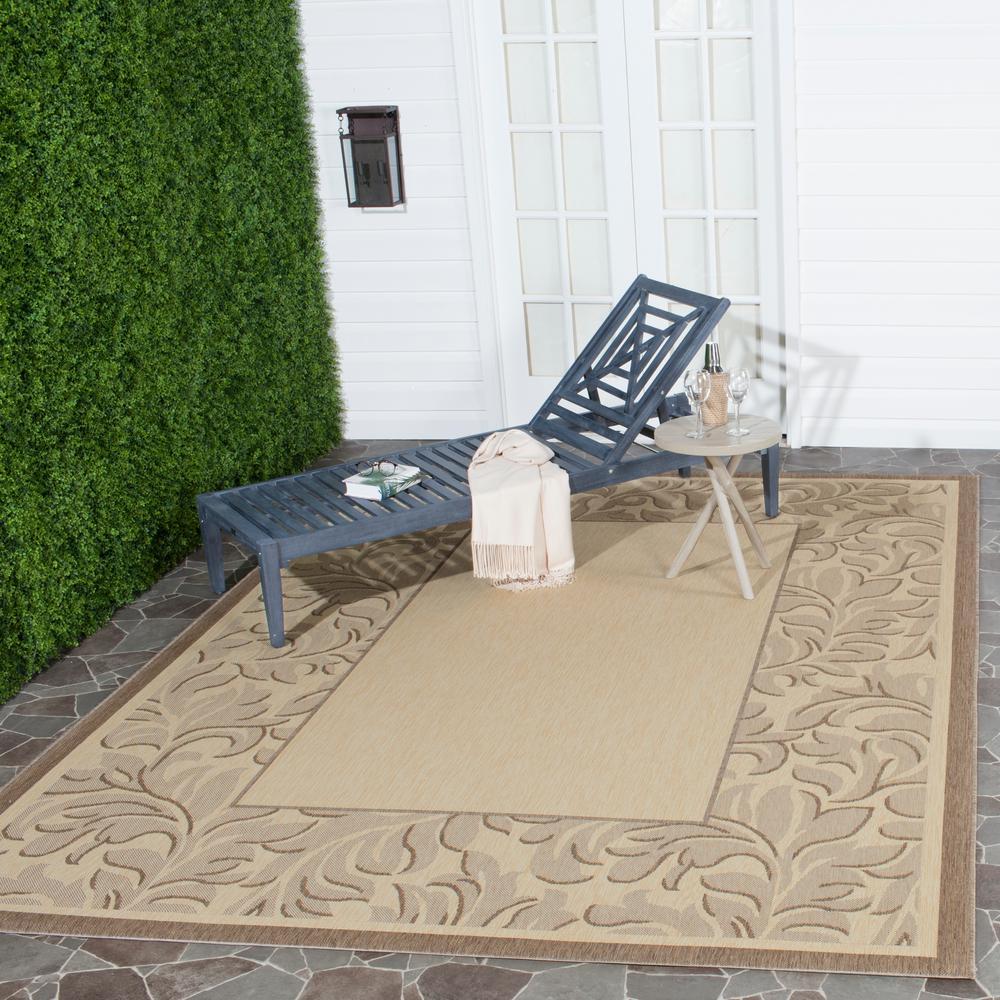 Safavieh Courtyard Natural/Brown 5 ft. 3 in. x 7 ft. 7 in. Indoor/Outdoor Area Rug