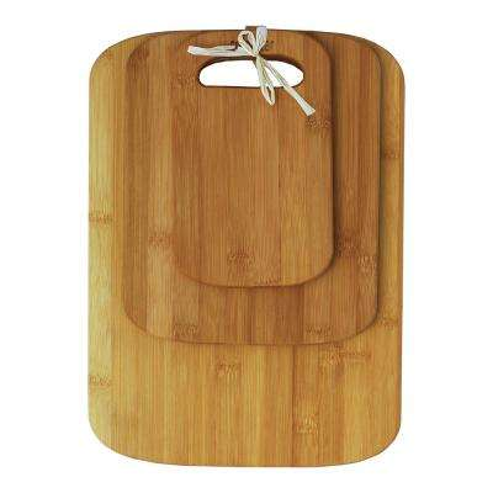 3-Piece Bamboo Cutting Board Set