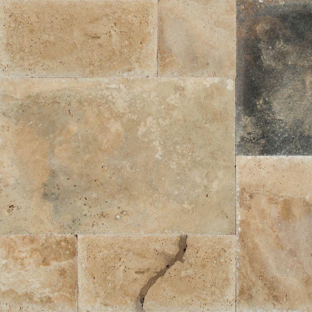 MSI Imperium Pattern Honed-Unfilled-Chipped Travertine Floor and Wall Tile (5 kits / 80 sq. ft. / pallet)