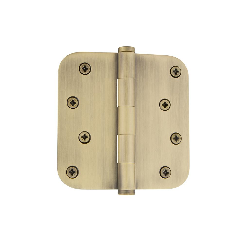 4 in. Button Tip Residential Hinge with 5/8 in. Radius Corners