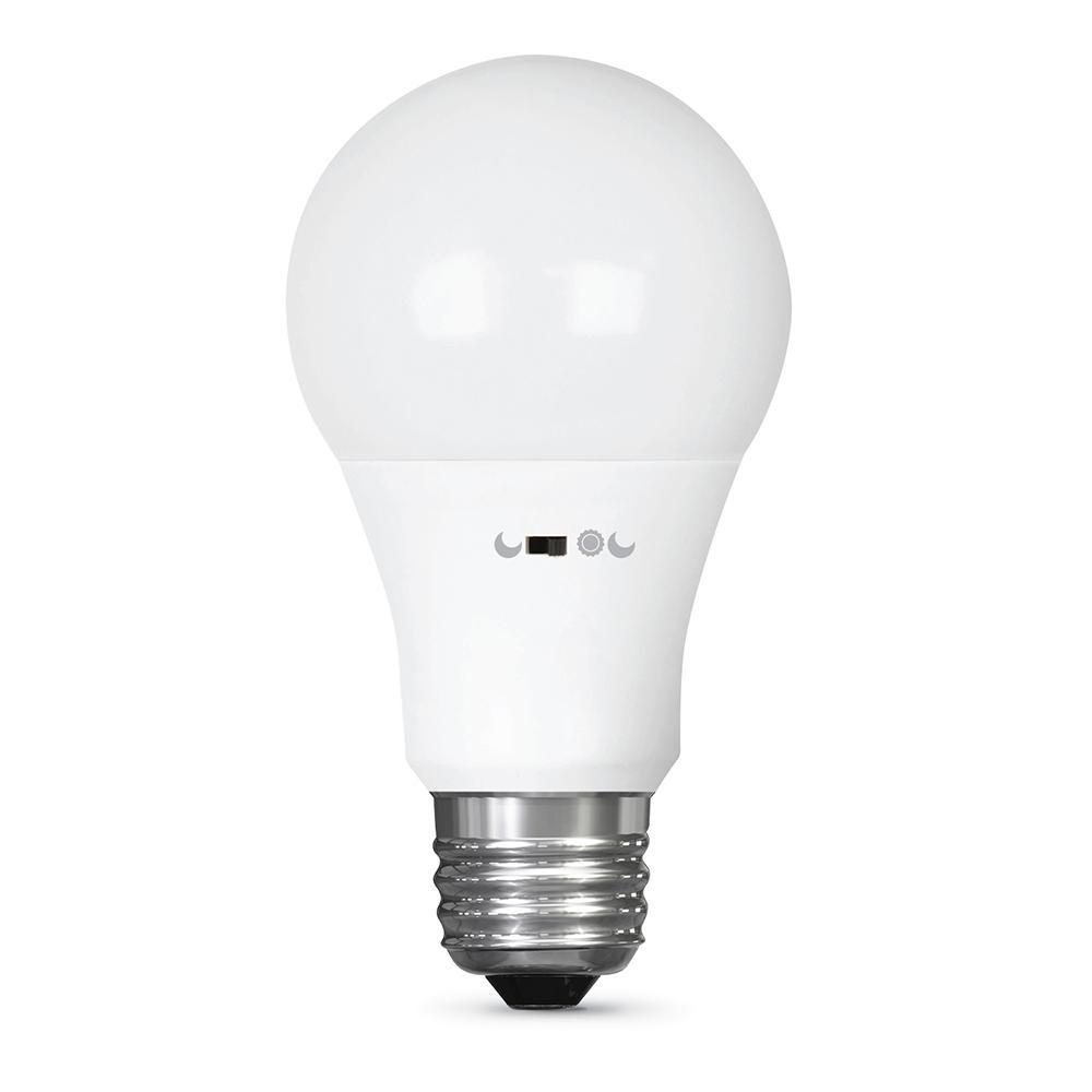 60-Watt Equivalent (2700K) A19 LED Motion Activated 90+ CRI Light Bulb