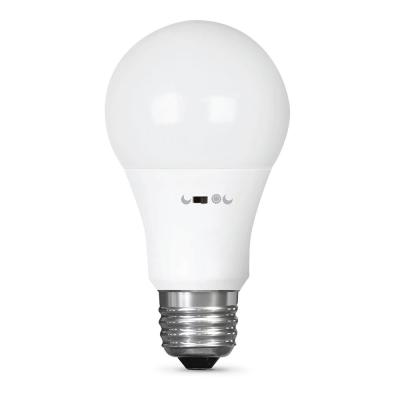 60-Watt Equivalent A19 Motion Activated 90+ CRI Indoor/Outdoor LED Light Bulb, Soft White