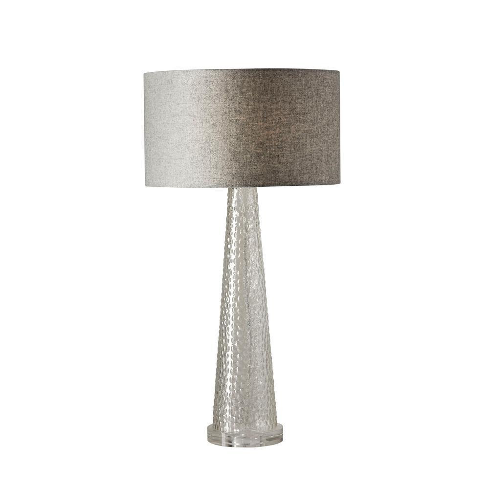 Adesso Beverly 25.5 in. Clear Bubble Glass Table Lamp-3860-03 - The ...