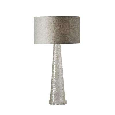 Beverly 25.5 in. Clear Bubble Glass Table Lamp