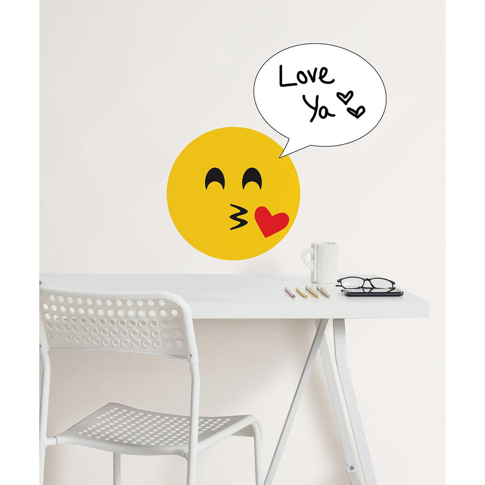 WallPOPs 26 in. x 13 in. Create an Emoji Dry Erase Wall Decal ...