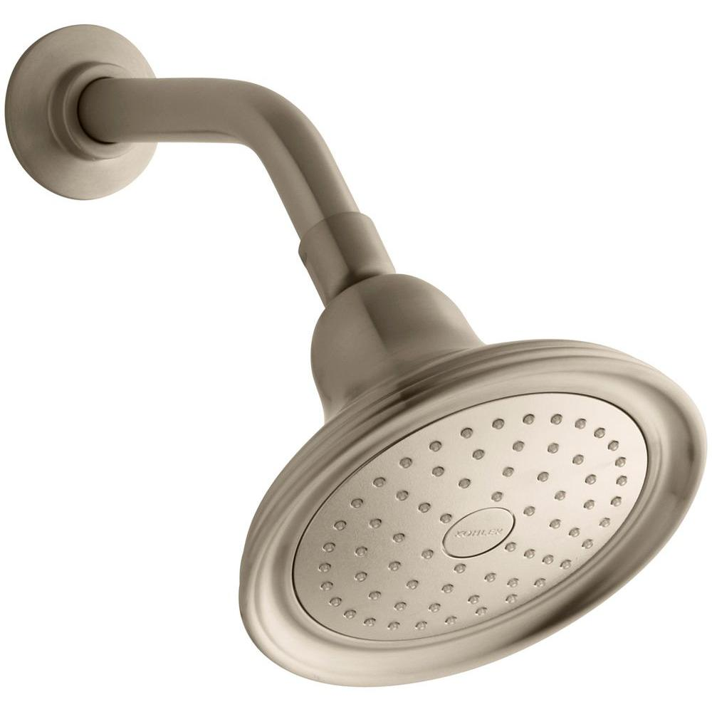 KOHLER Devonshire 1-Spray Single Function 5.9375 in. Raincan Showerhead in Vibrant Brushed Bronze