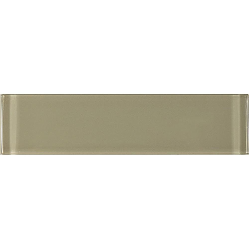 Metro 3 in. x 12 in. Jerusalem Brown Glass Peel and