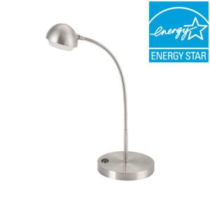 Hampton Bay 18 inch Brushed Nickel LED Table Lamp by Hampton Bay