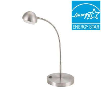 18 in. Brushed Nickel LED Table Lamp