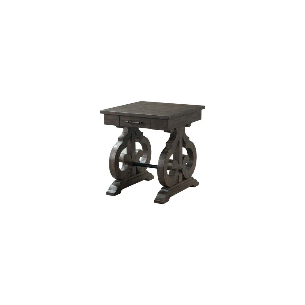 Stanford Chair Side Table With Drawer In Smokey WalnutTSTST - Walnut side table with drawer