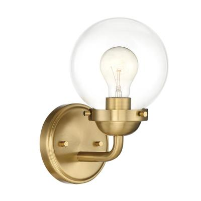 Knoll 1-Light Brushed Gold Wall Sconce