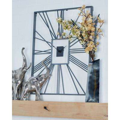 Multi-Colored Industrial Analog Wall Clock