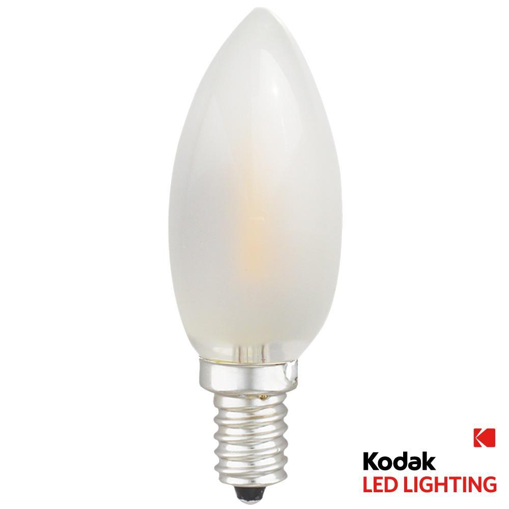 Kodak 40w equivalent warm white e12 torpedo frosted dimmable led kodak 40w equivalent warm white e12 torpedo frosted dimmable led light bulb 42083 ul the home depot arubaitofo Image collections