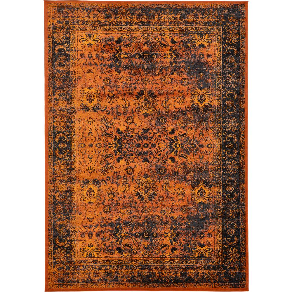 Linoleum Rug Turquoise Terracotta Area Rug Or Kitchen Mat: Unique Loom Istanbul Terracotta 8 Ft. X 11 Ft. 6 In. Area