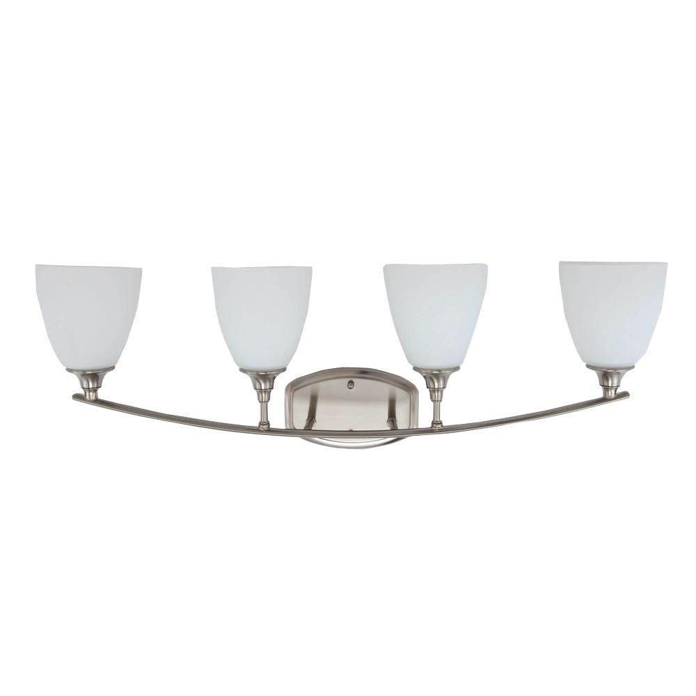 Stansbury Collection 4-Light Brushed Nickel Vanity Light