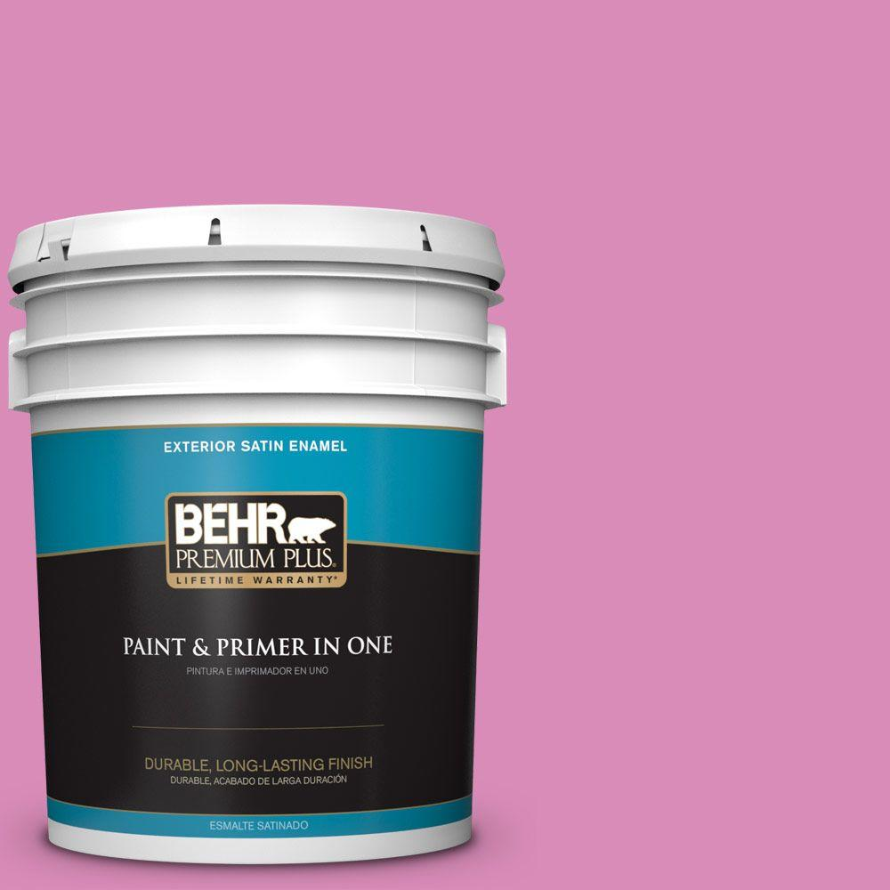 5-gal. #P120-3 High Maintenance Satin Enamel Exterior Paint