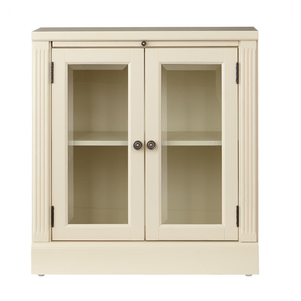 Edinburgh Ivory Storage Glass Door Cabinet