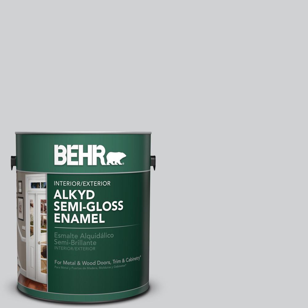 1 gal. #N530-2 Double Click Semi-Gloss Enamel Alkyd Interior/Exterior Paint