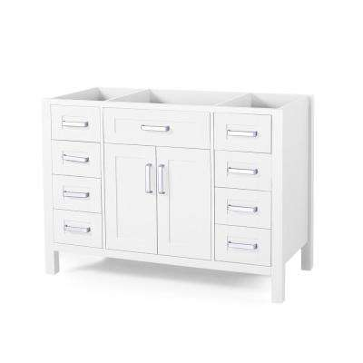 Greysen 48 in. W x 22 in. D Bath Vanity Cabinet Only in White