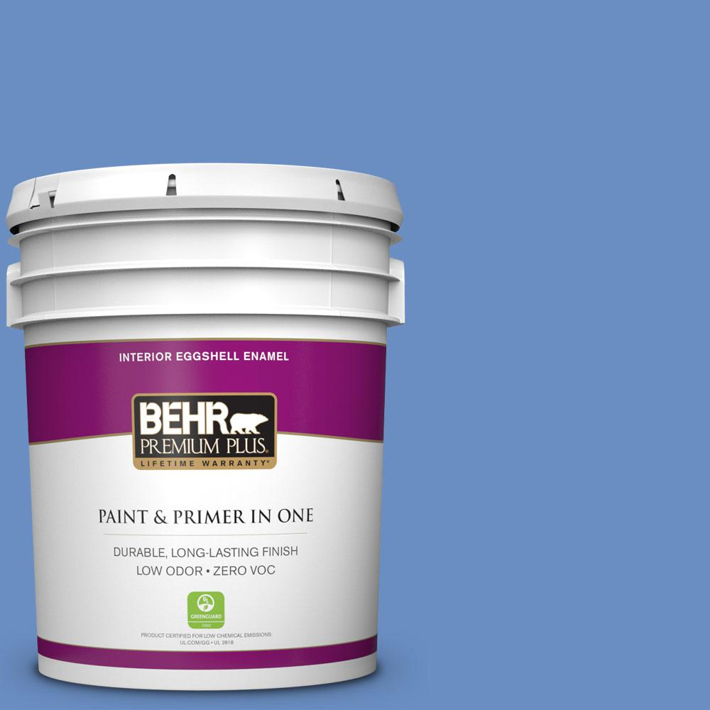 5 gal. #590B-5 Purple Hyacinth Zero VOC Eggshell Enamel Interior Paint