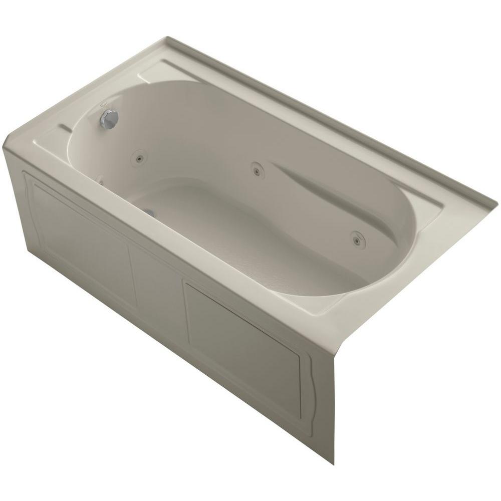 Kohler devonshire 5 ft whirlpool tub in sandbar k 1357 hl for Devonshire home design garden city ny