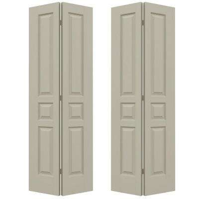 72 in. x 80 in. Avalon Desert Sand Painted Textured Hollow Core Molded Composite MDF Closet Bi-fold Door