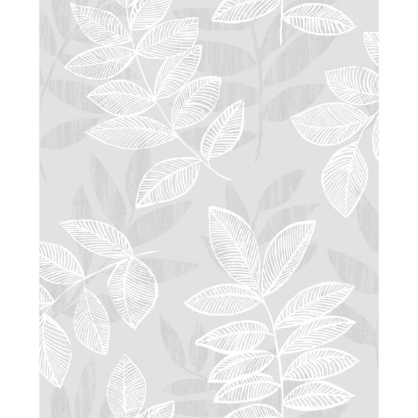 Chimera Silver Flocked Leaf Strippable Roll (Covers 56.4 sq. ft.)
