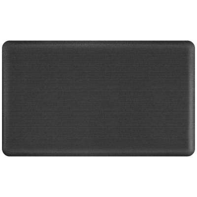 Designer Grasscloth Charcoal 18 in. x 30 in. Anti-Fatigue Comfort Kitchen Mat