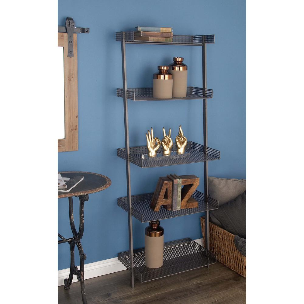 Litton Lane 43 in. W x 8 in. H Iron and Wood Vintage Airplane Wall ...