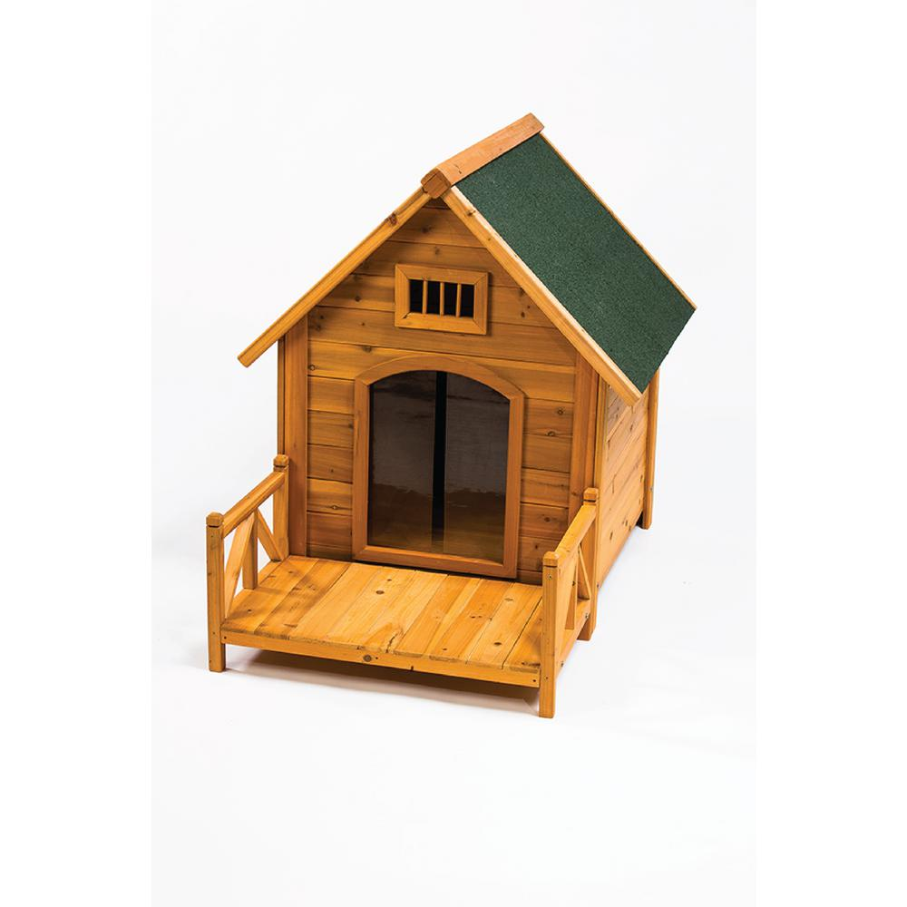 K-9 Kastle Dog House with Porch and Door Flaps