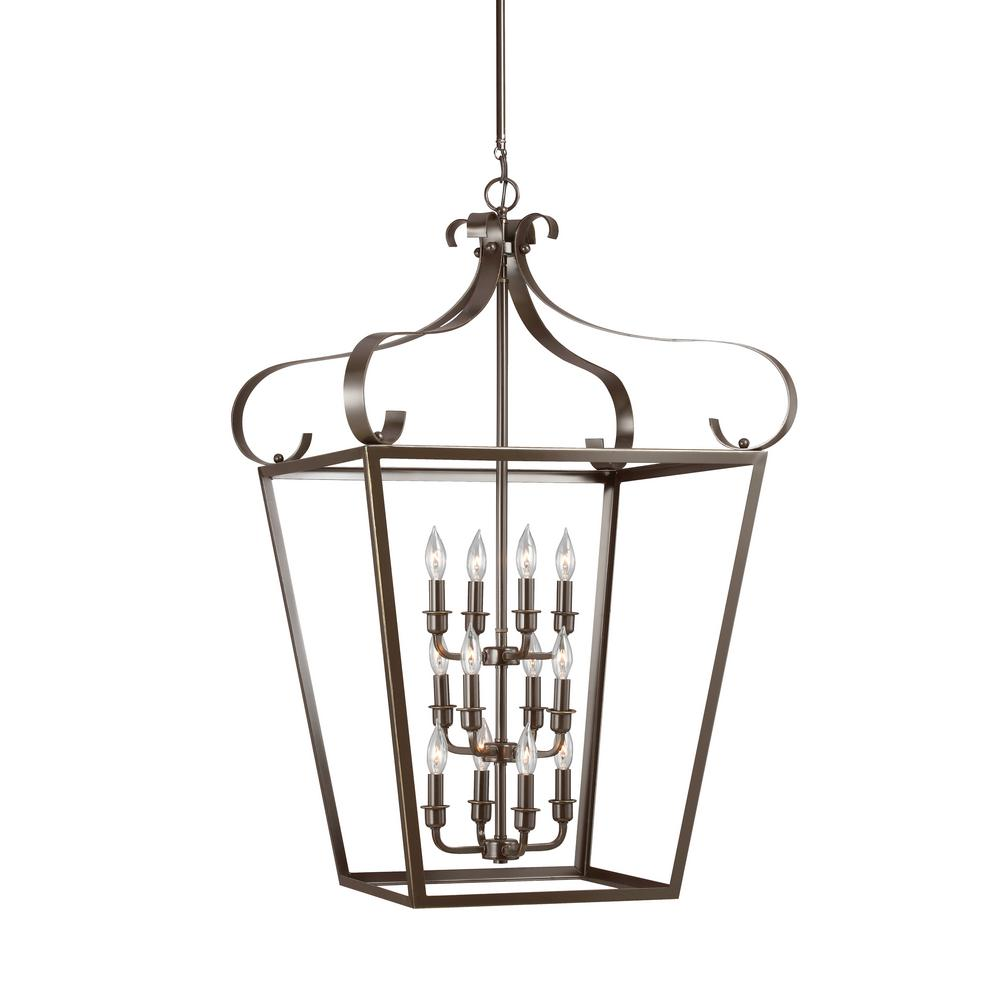 Lockheart 12-Light Heirloom Bronze Hall-Foyer Pendant