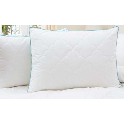 2-Pack Scallop Cloud Quilted Gusset King Pillows