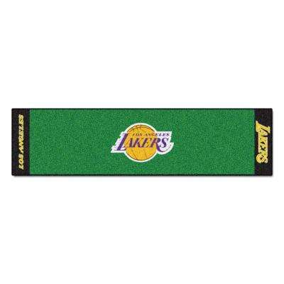 NBA Los Angeles Lakers 1 ft. 6 in. x 6 ft. Indoor 1-Hole Golf Practice Putting Green