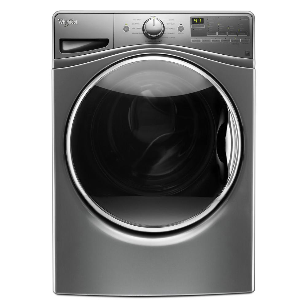 whirlpool 4 5 cu ft front load washer with colorlast in. Black Bedroom Furniture Sets. Home Design Ideas