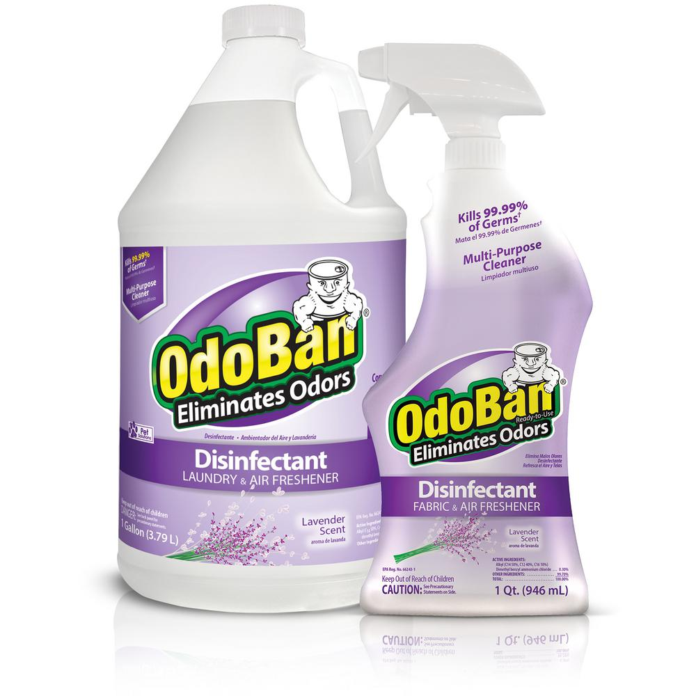 OdoBan 1 Gal. Lavender Concentrate Disinfectant and 32 oz. Lavender Ready-to-Use Cleaner Combo Pack