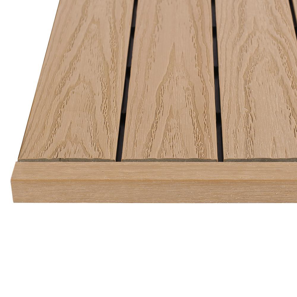 1/12 ft. x 1 ft. Quick Deck Composite Deck Tile Straight Fascia in Canadian Maple (4-Pieces/Box)