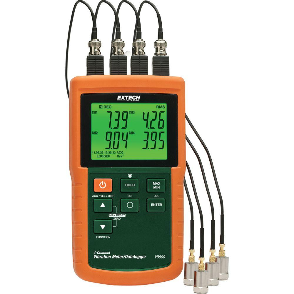 4-Channel Vibration Meter with SD Card