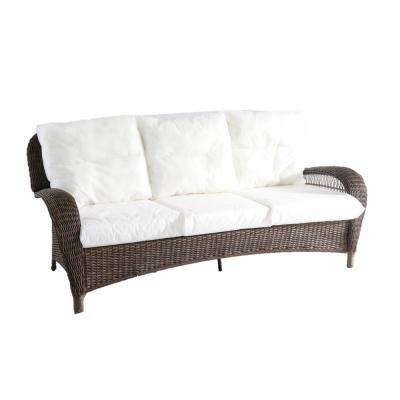 Beacon Park Brown Wicker Outdoor Patio Sofa with Bare Cushions