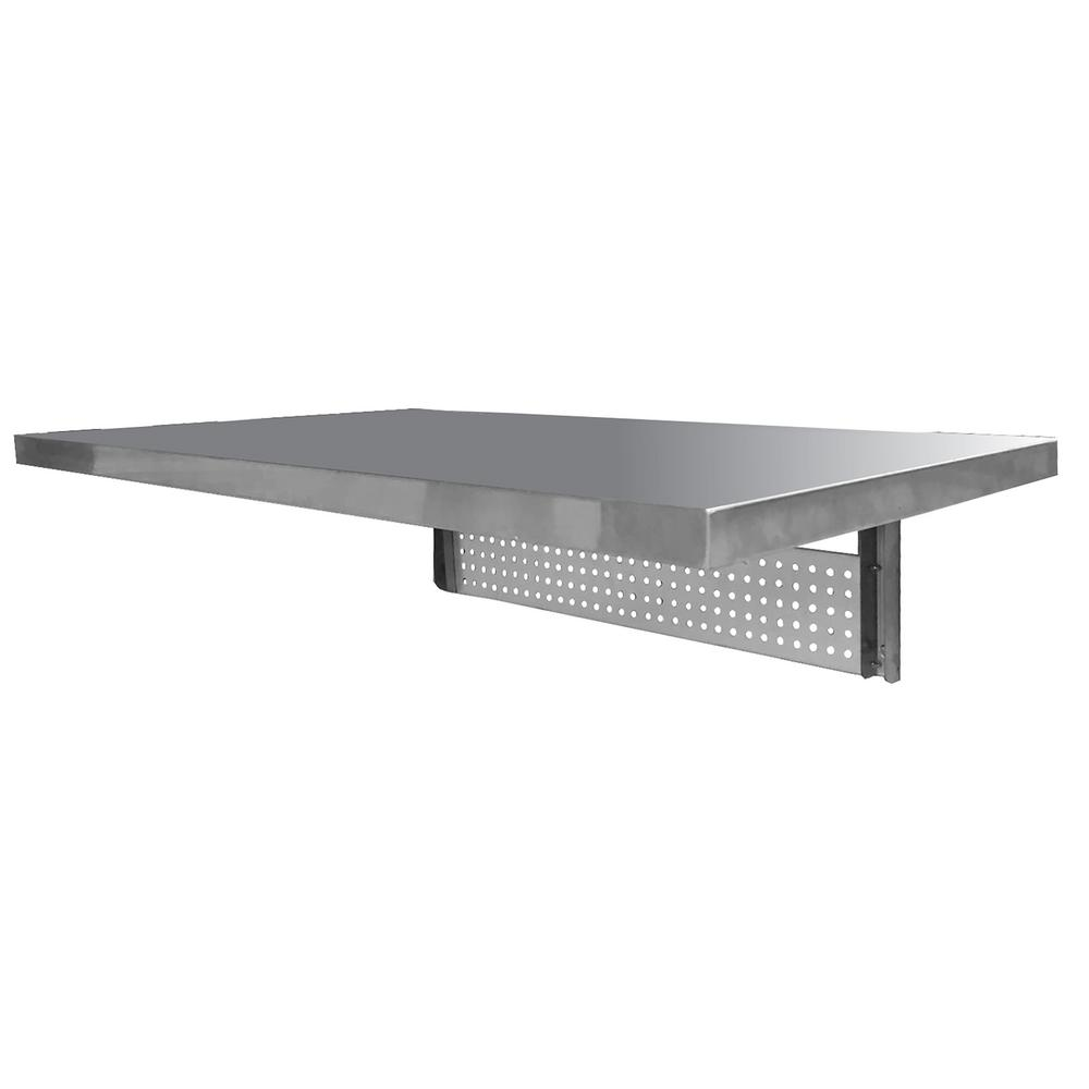 Sportsman Space Saving Ft Stainless Steel Wall Mounted Foldable - Stainless steel table accessories