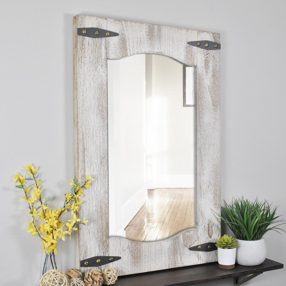 FirsTime Barn Door Wall Mirror-70000 - The Home Depot