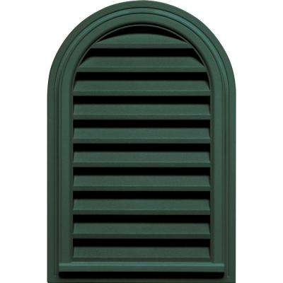 22 in. x 32 in. Round Top Gable Vent in Forest Green
